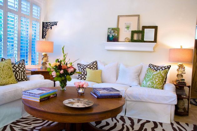 18 Fascinating Living Room Designs With Modern Round Coffee Table