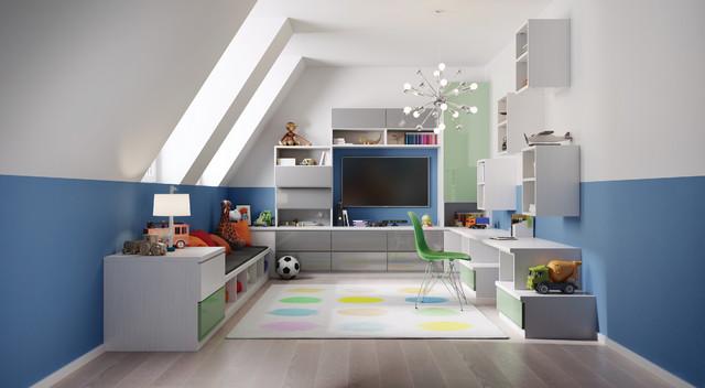 20 inspirational contemporary kids 39 room designs for all ages for Contemporary kids room