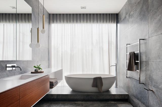 captivating pink bathroom design   22 Captivating Contemporary Bathroom Designs That Will ...