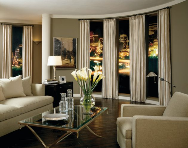 15 beautiful curtains designs to adorn your living room - Latest window treatment trends ...