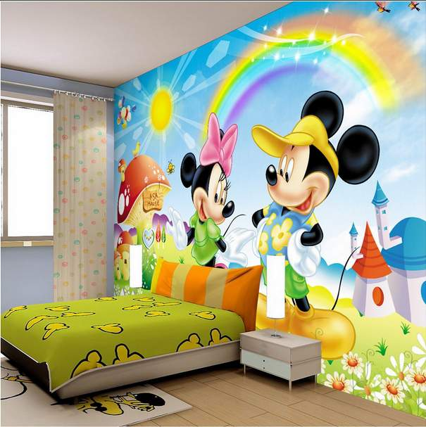 1 Bedroom Apartment Decorating Bedroom Ceiling Art Images Of Bedroom Paint Ideas Bedroom Background Cartoon: 14 Majestic Cartoon Wallpaper Designs For Your Dream Child