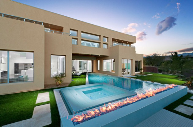 16 Spectacular Exteriors With Contemporary Swimming Pool