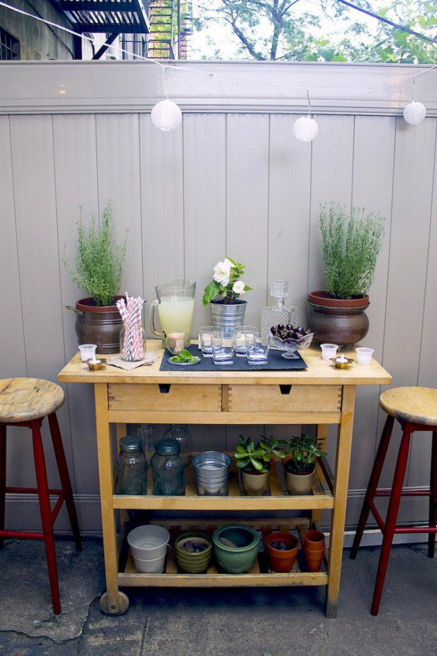 19 Super Easy & Cheap DIY Outdoor Bar Ideas on Small Backyard Bar Ideas id=72659