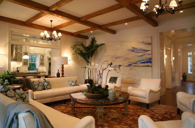 23 Brilliant Living Room Designs With Exposed Beams
