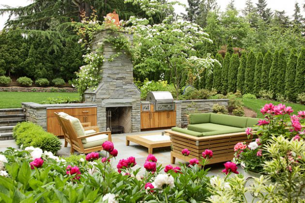 18 Impressive Examples For Decorating Outdoor Relaxing Space In The Garden