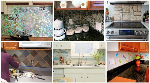 16 Inexpensive & Easy DIY Backsplash Ideas To Beautify Your Kitchen