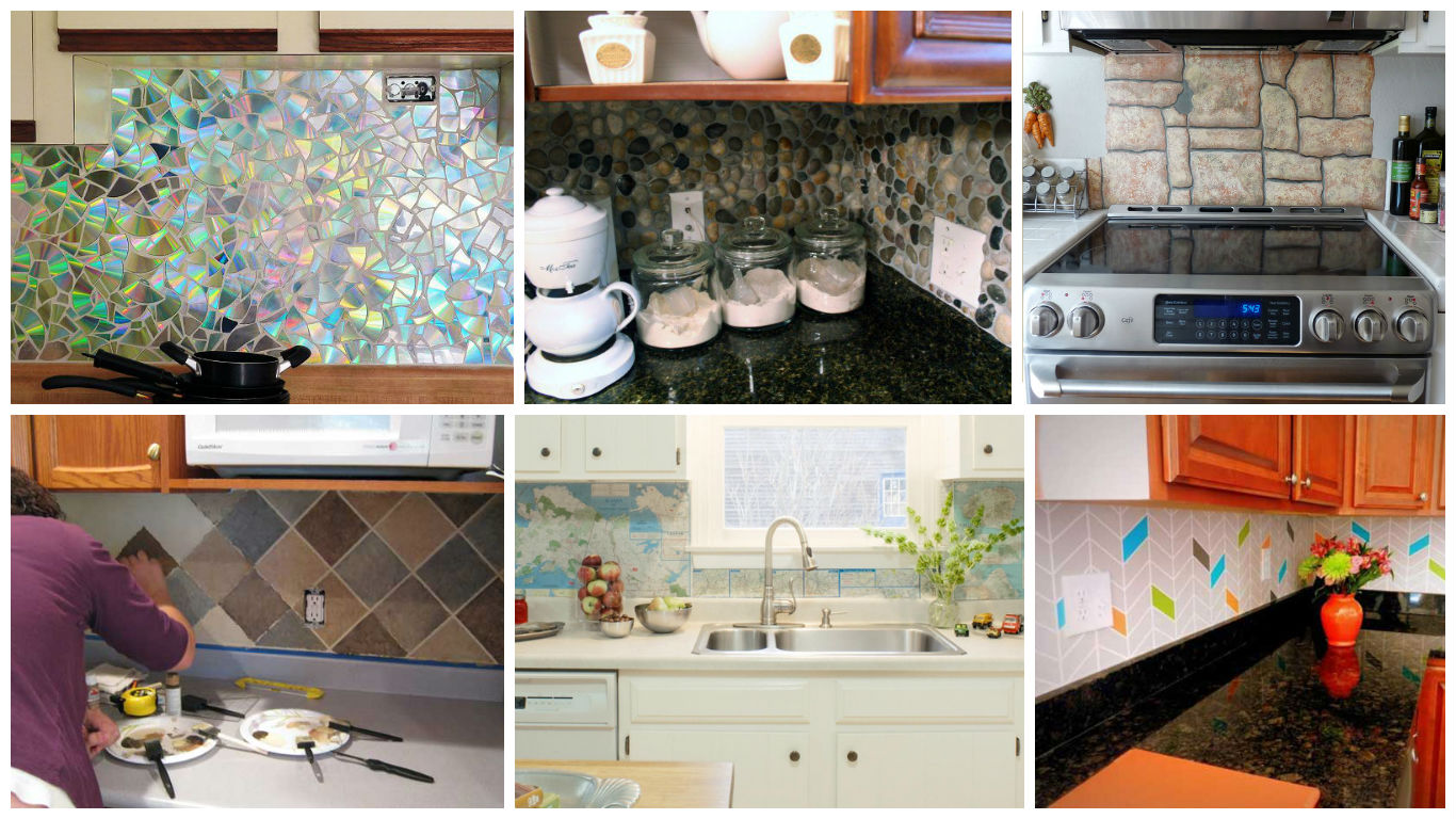 5 Ideas You Can Do For Cheap Kitchen Remodeling: 16 Inexpensive & Easy DIY Backsplash Ideas To Beautify