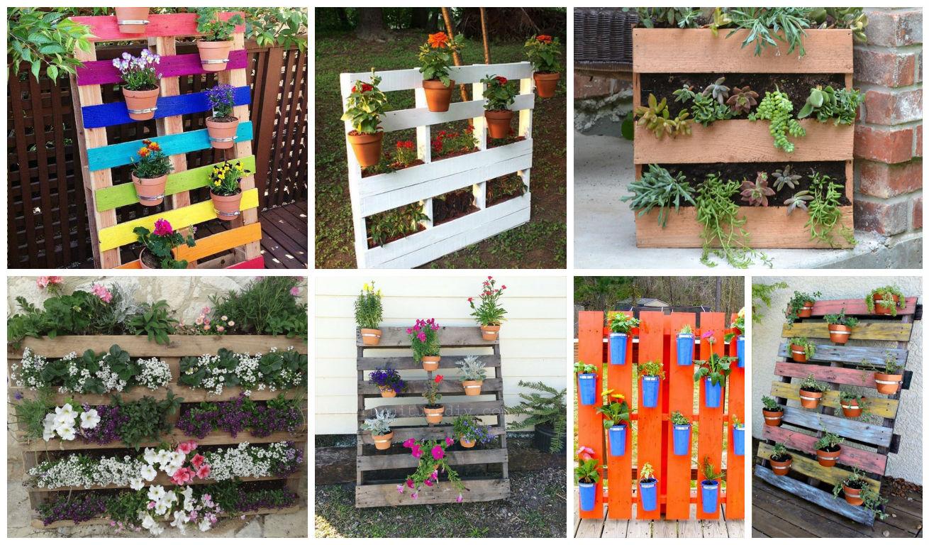 19 inexpensive diy pallet planters to beautify your garden for Decoracion de jardines con macetas