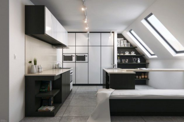 18 Delightful Attic Kitchen Designs That Surely Will Amaze You
