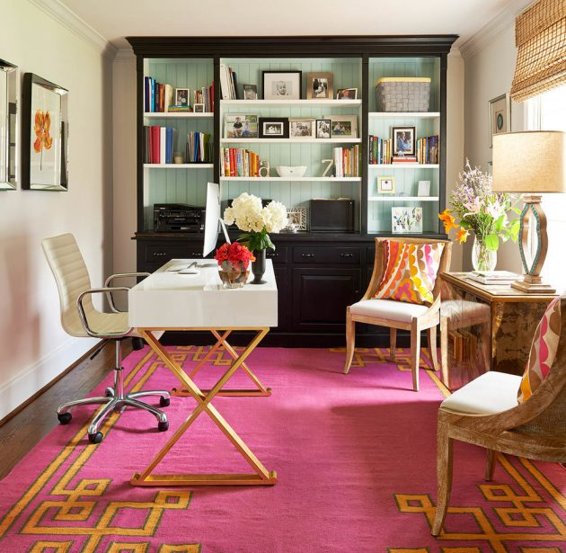 Modern Asian Luxury Interior Design: 18 Beautiful Home Office Designs With Feminine Allure