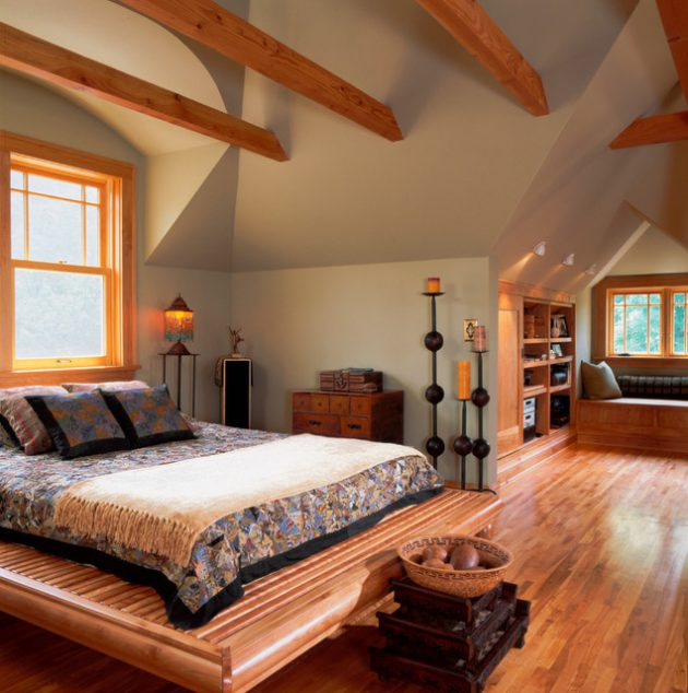 19 Fascinating Bedroom Designs With Exposed Beams That