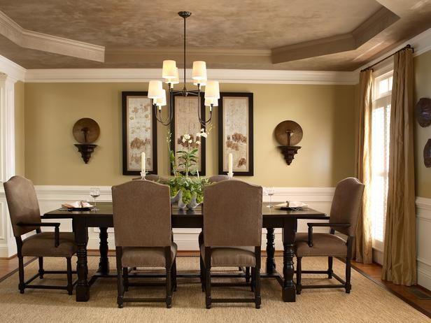 16 inspirational wall decor ideas to enhance the look of for What to put on dining room walls