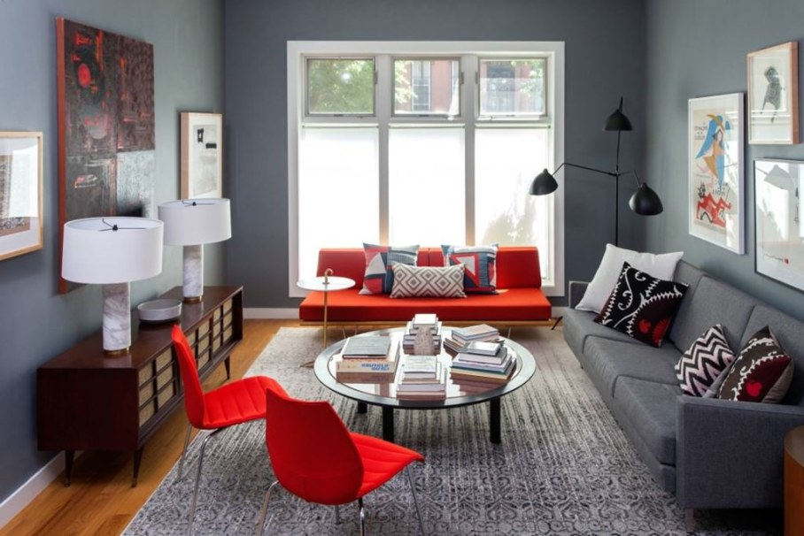 Red Living Room Architecture Art Designs