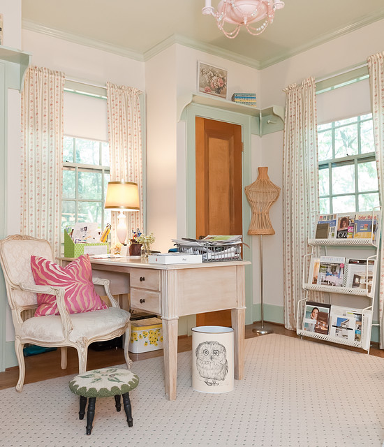 Terrific Beautiful Home Office Designs With Feminine Allure Largest Home Design Picture Inspirations Pitcheantrous