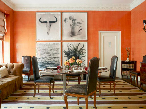 Orange Color In Your Dining Room Why Not
