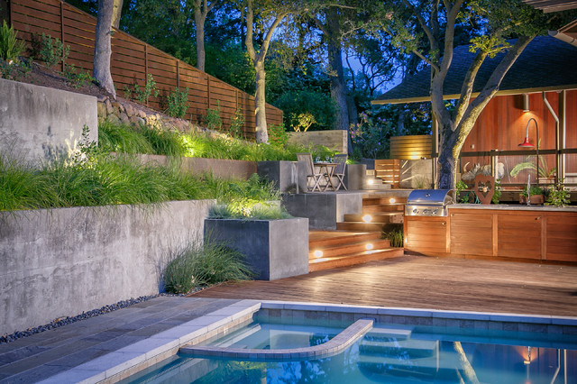 15 Outstanding Contemporary Landscaping Ideas Your Garden ... on Contemporary Backyard Landscaping Ideas id=11906