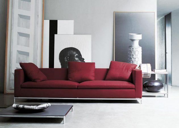using red in interior design