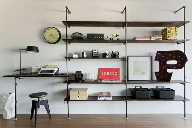 17 Industrial Shelves Designs To Spice Up Every Home Decor