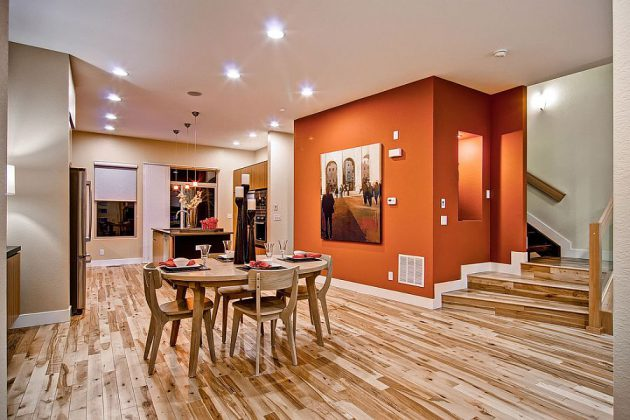 Orange Color In Your Dining Room Why Not?