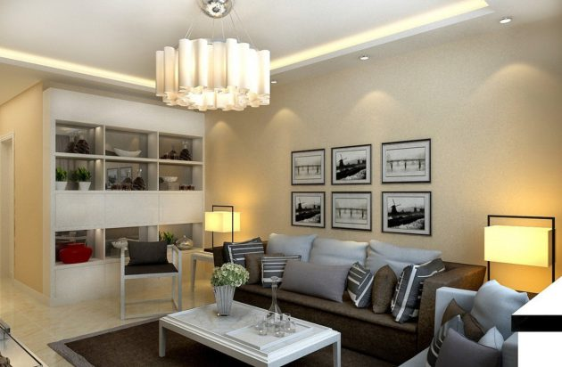 Wonderful Examples Of Living Room Lighting