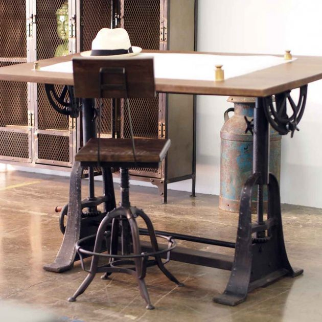 16 classy office desk designs in industrial style Industrial home office design ideas