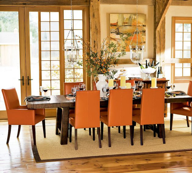 Dining Room Orange: Orange Color In Your Dining Room- Why Not?
