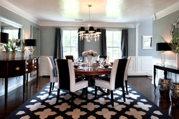 18 Extravagant Black & White Dining Rooms That Are Worth Seeing