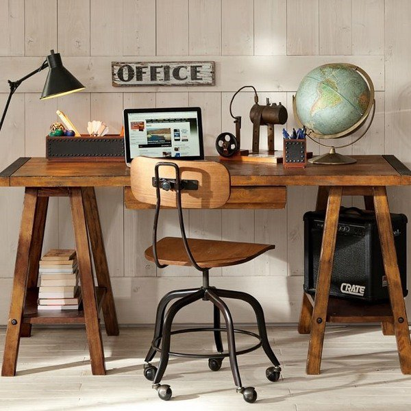 16 classy office desk designs in industrial style - Awesome ideas of designer desks for home ...