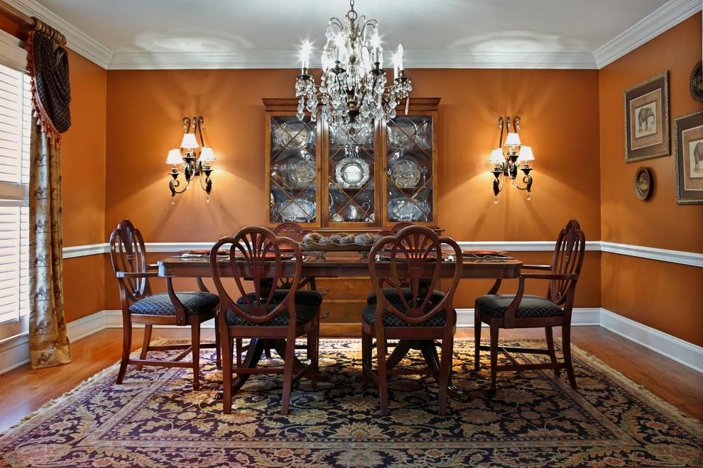 orange dining room ideas