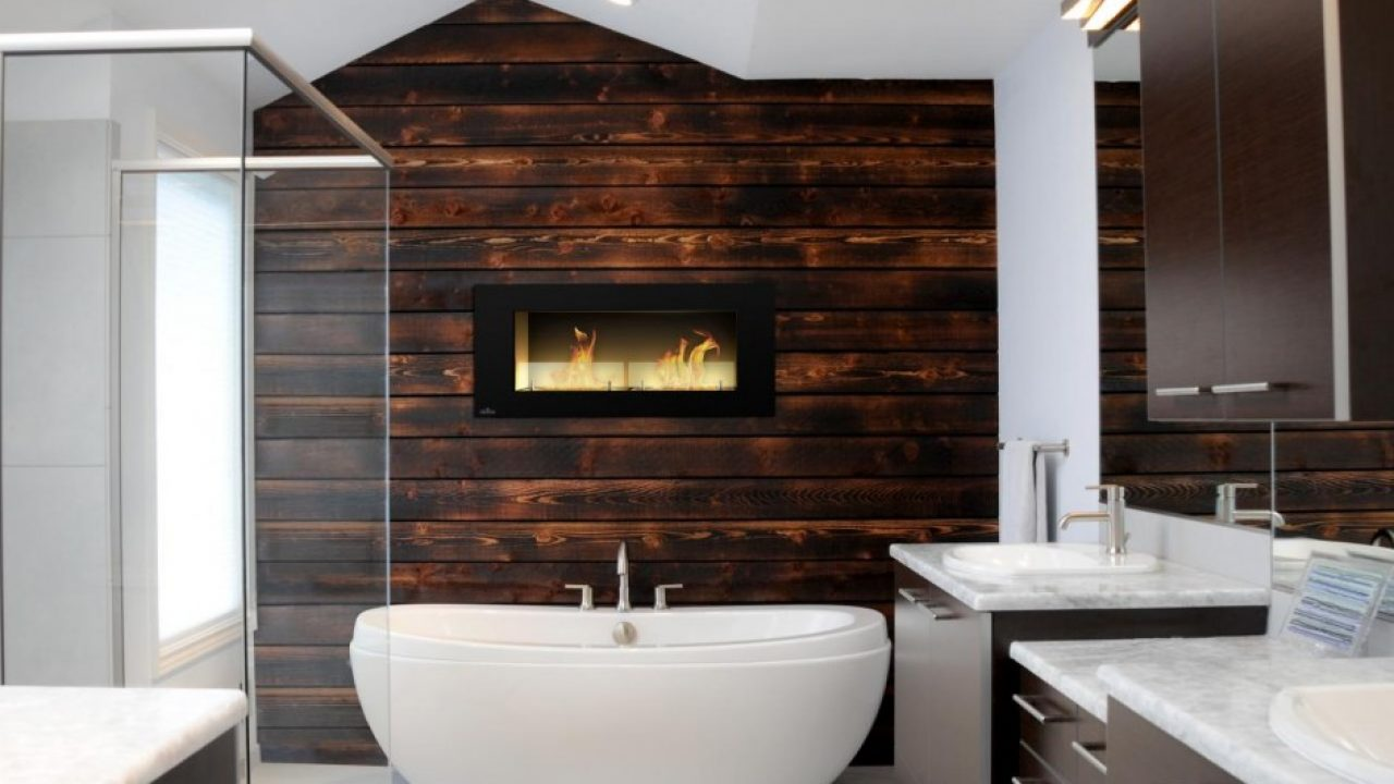 16 Marvelous Bathroom Designs With Wooden Wall That Abound With Elegance Warmth