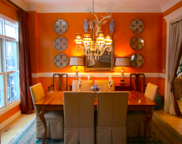 Orange Color In Your Dining Room Why Not Rh Architectureartdesigns Com Decor Chairs Uk