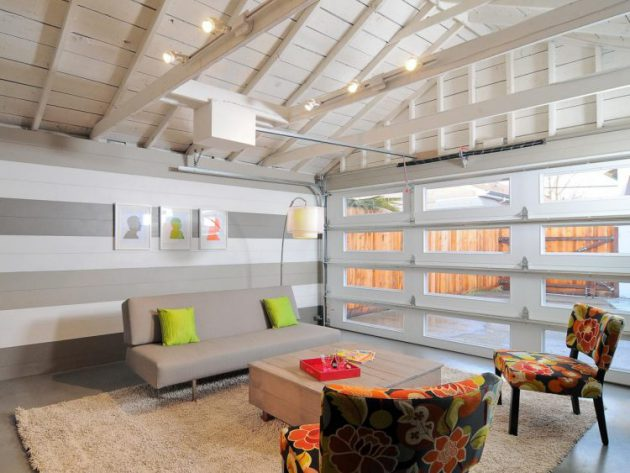 12 Functional Solutions To Transform Your Garage Into Beautiful Living Room