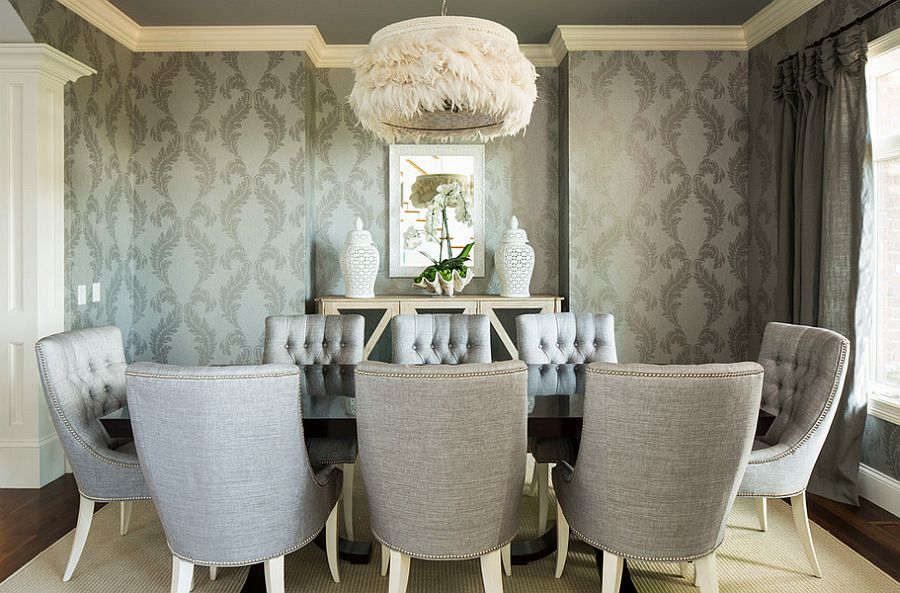 Ordinary Wallpaper For Dining Room Ideas Part - 11: 17 Fabulous Dining Room Designs With Modern Wallpaper