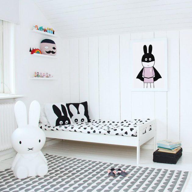 14 Surprisingly Amazing Black & White Child's Room Designs