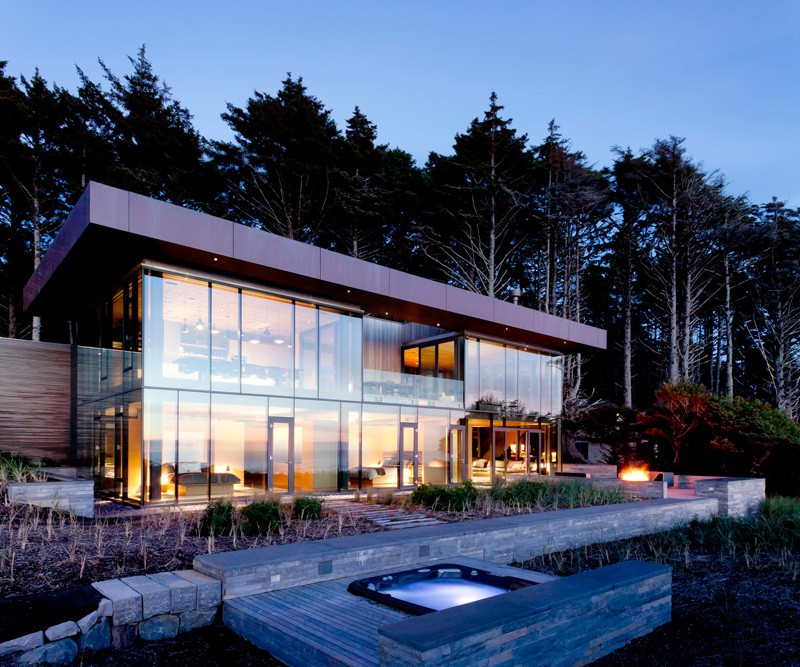 Finley Beach House A Transpa Beachfront Residence By Bora Architects In Oregon