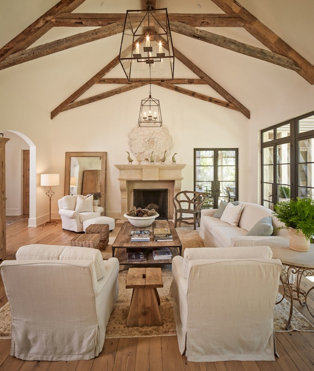 Home Ceiling Design Ideas: 17 Charming Living Room Designs With Vaulted Ceiling