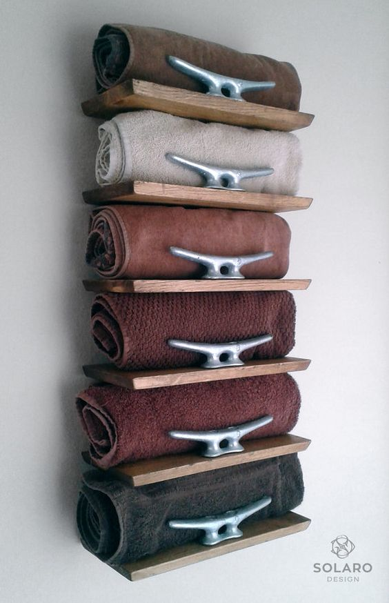 Wonderful 20 Really Inspiring DIY Towel Storage Ideas For Every Small Bathroom