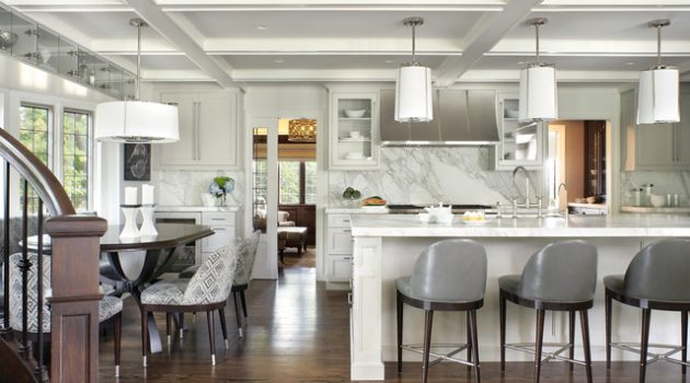 19 Beautifully Decorated Kitchens With Marble Backsplash That You Need To See
