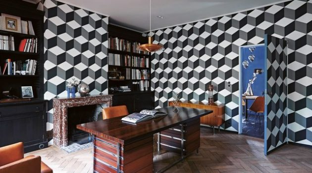 18 Magnificent Ideas to Break The Monotony In Your Home Office With Geometric Details