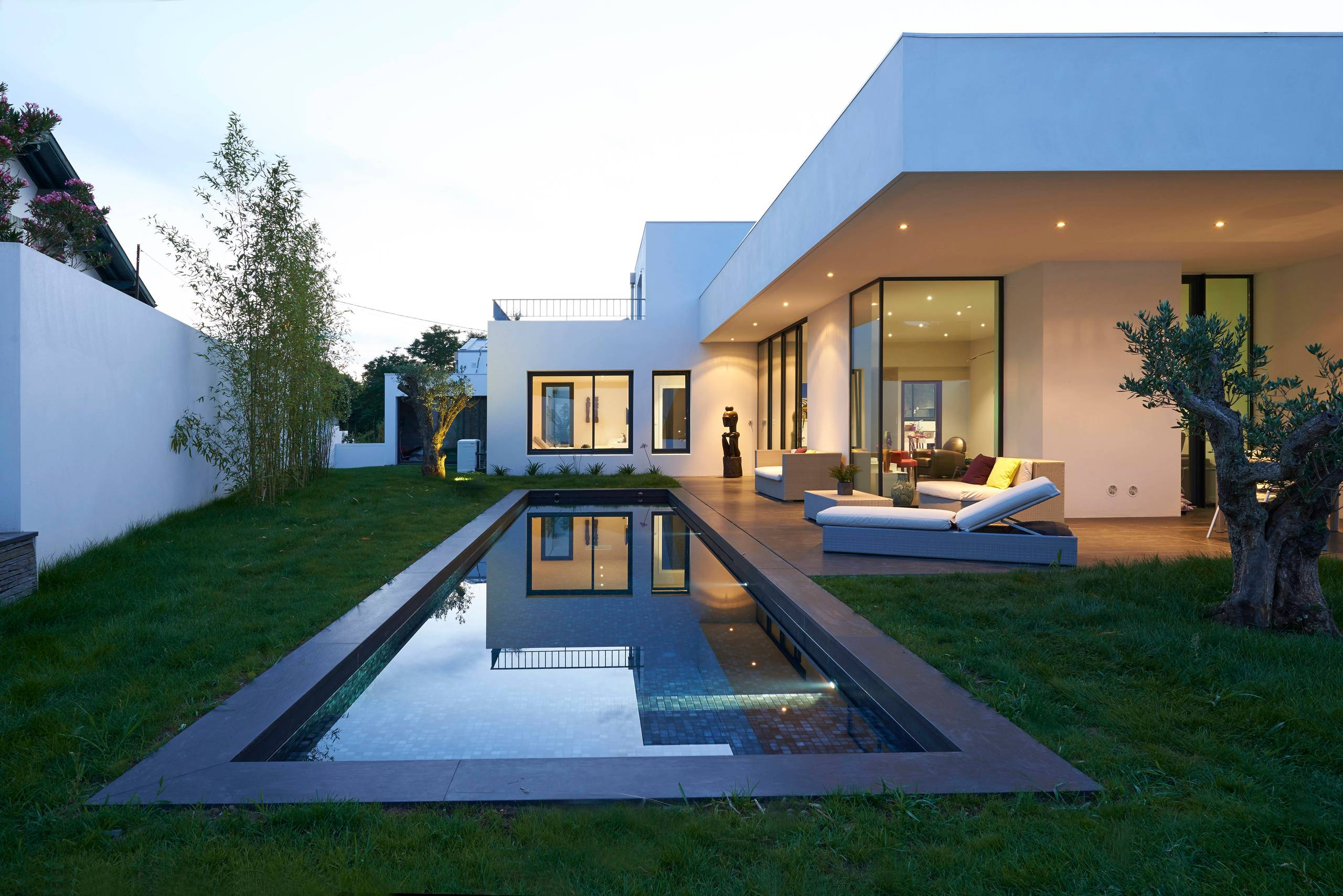 18 Dazzling Modern Swimming Pool Designs - The Ultimate ... on Contemporary Backyard id=82657