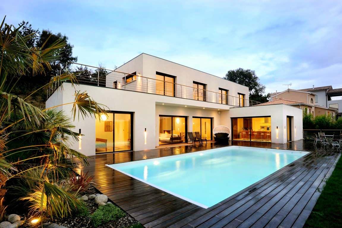 18 Dazzling Modern Swimming Pool Designs - The Ultimate ... on Modern Small Backyard Ideas id=75416