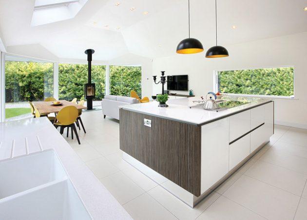 17 Impressive Open Plan Kitchen Designs