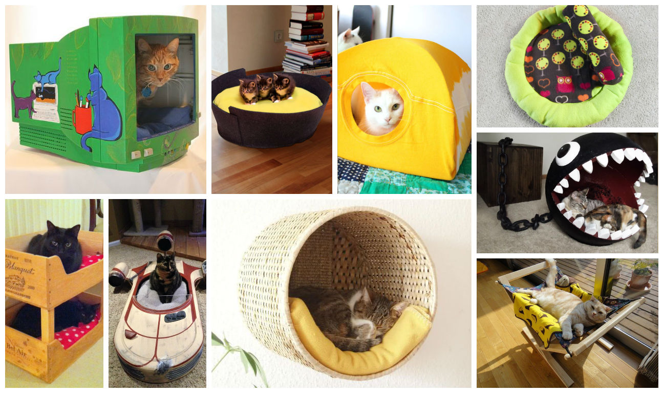19 Most Amazing Ideas To Make Cool amp Cozy Bed For Your Cat