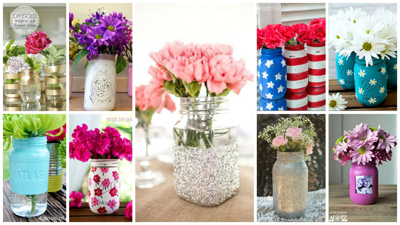 Cool & Easy Ideas For Creating DIY Mason Jars Vases