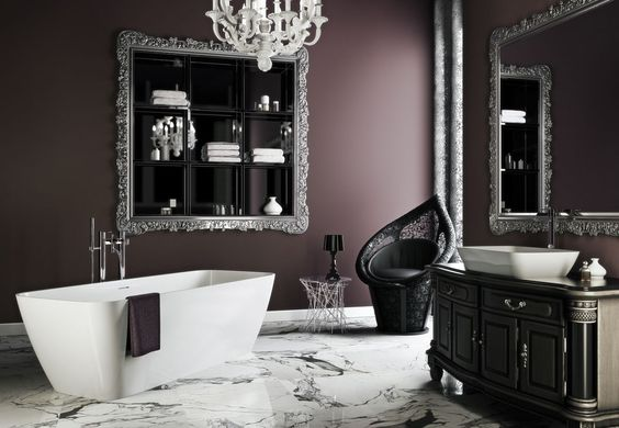 16 captivating gothic bathroom designs for dramatic ambience for Gothic bathroom ideas