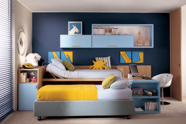 16 Joyful Childs Room Designs With Blue & Yellow Tones