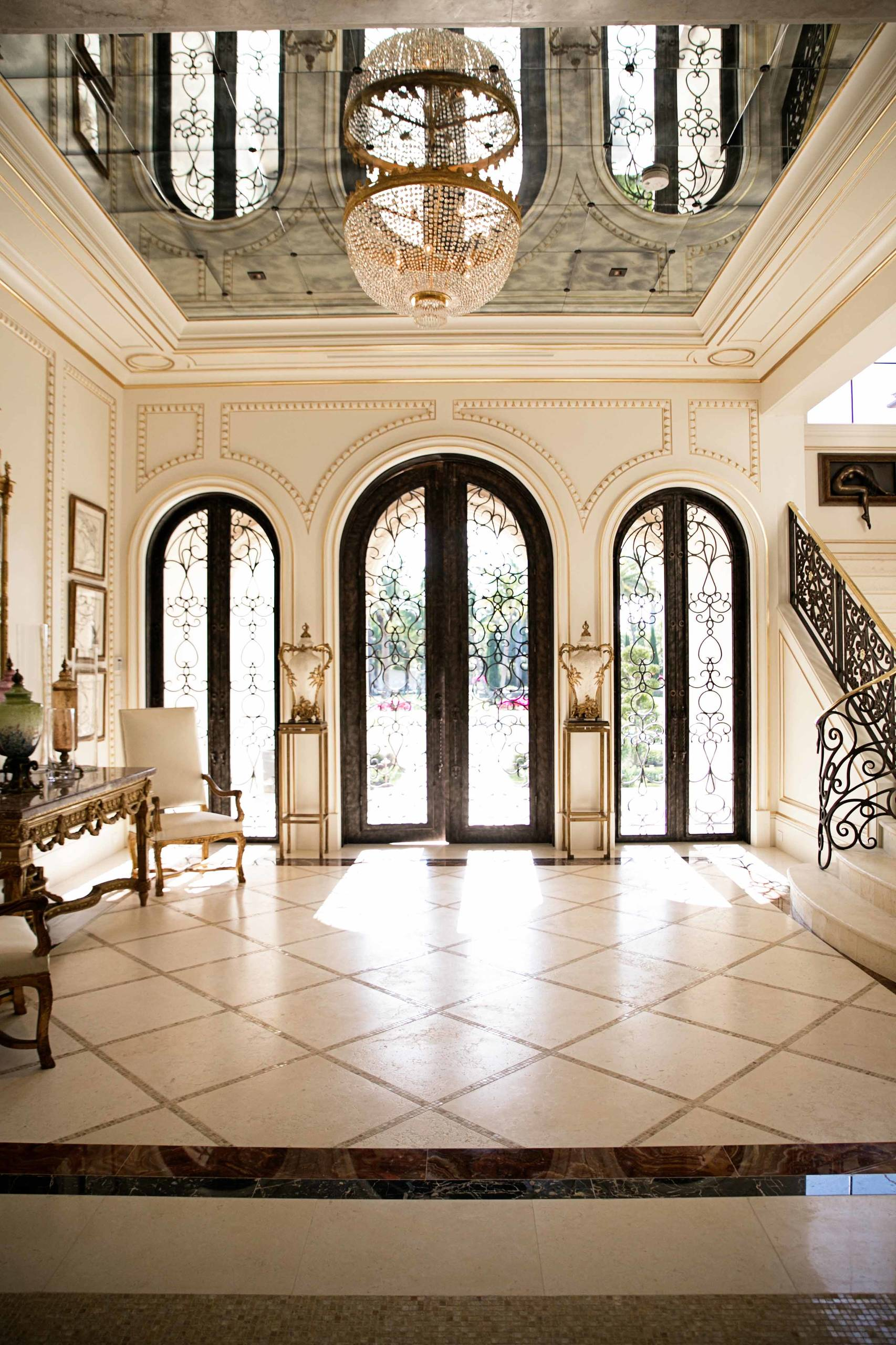 Entrance Foyer And Circulation In House : Uplifting mediterranean entry hall designs that will