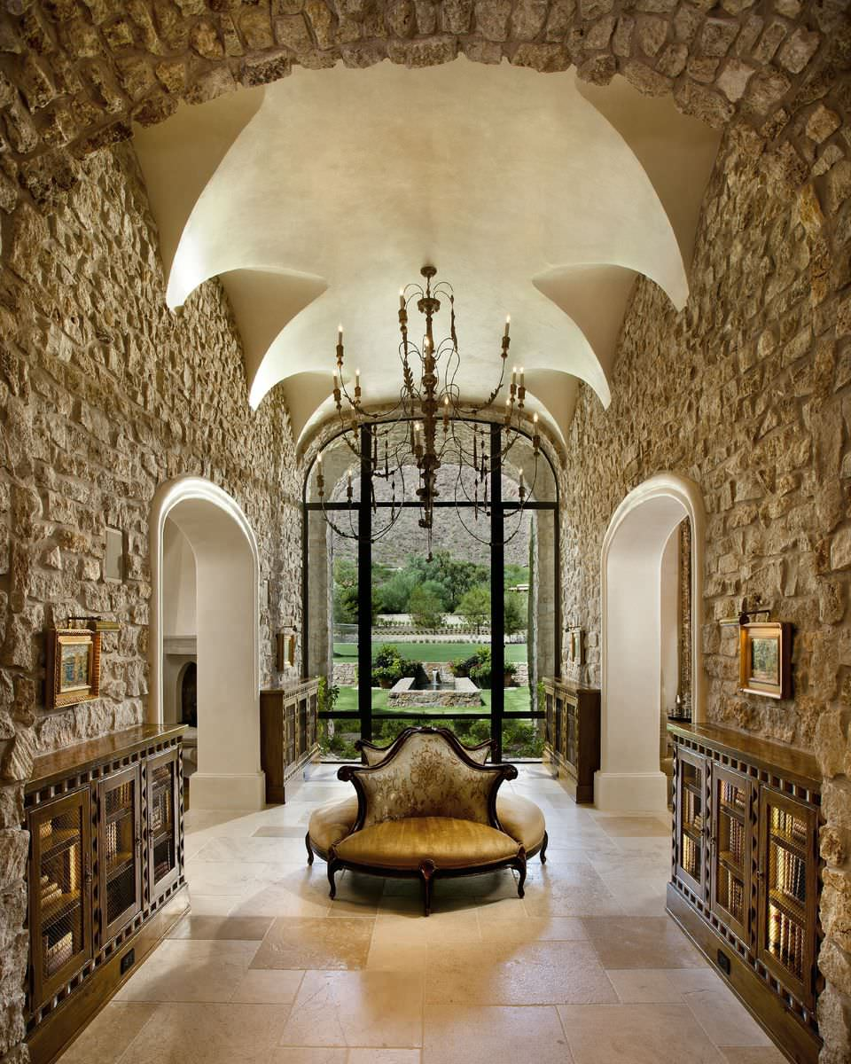 15 Spectacular Rustic Exterior Designs That You Must See: 16 Uplifting Mediterranean Entry Hall Designs That Will