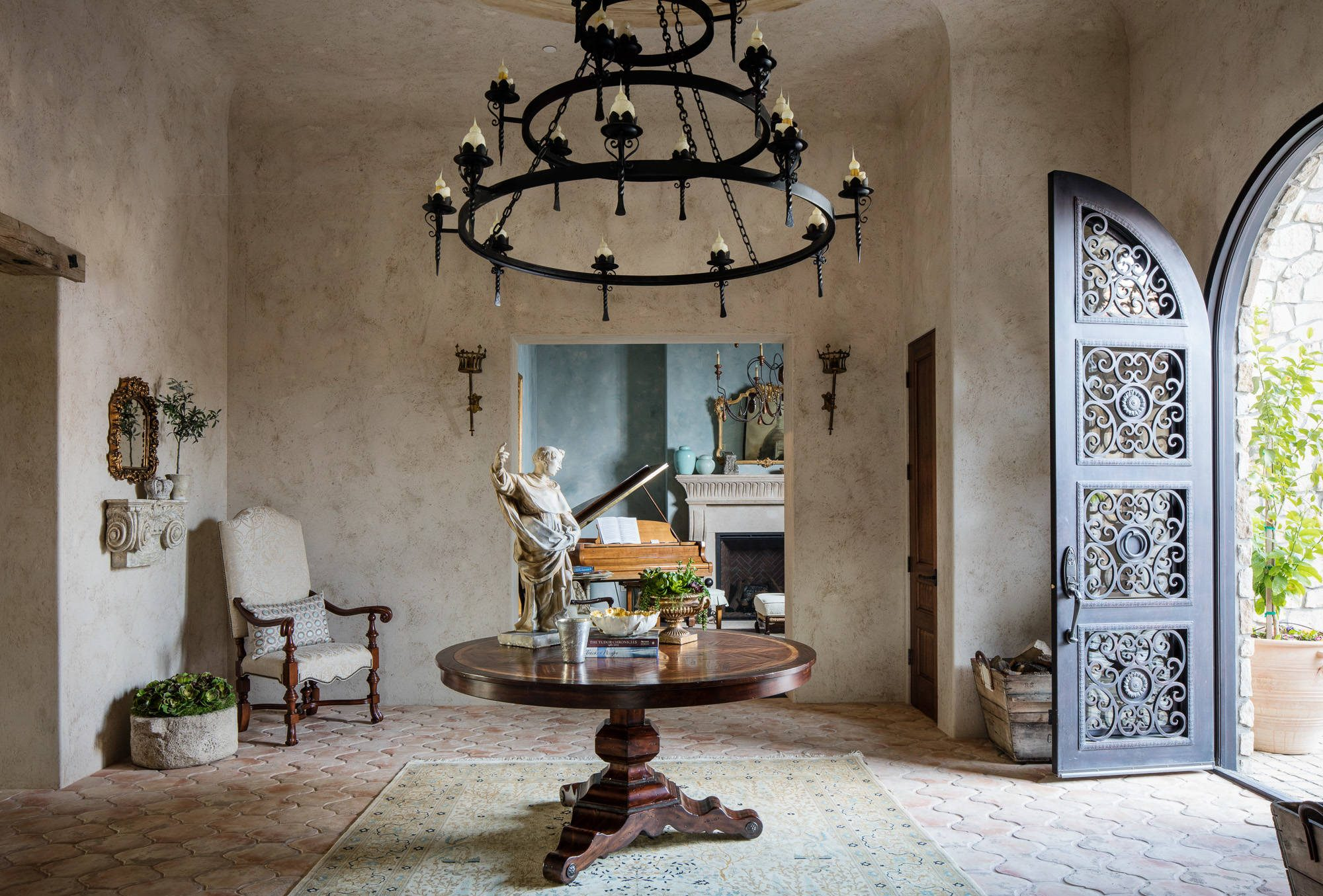 1355 #5F4D3B 16 Uplifting Mediterranean Entry Hall Designs That Will Welcome You  picture/photo Mediterranean Entry Doors 44692000