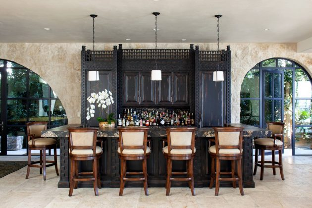 18 Seductive Mediterranean Home Bar Designs For Leisure In Your Own Home